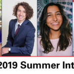 From left to right: 2019 NC Space Grant summer interns Antonia Dingeman, Noah Prezant, Atanaz Bohlooli and Katherine Tighe