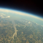 A view of the Pamlico River from the Edgecombe Community College high-altitude balloon