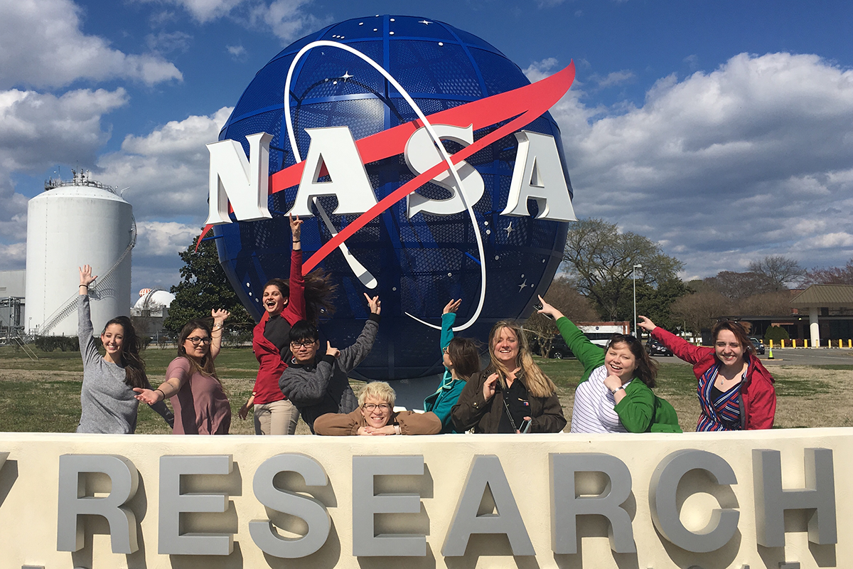 The 2019 Pre-Service Teacher Scholars visit NASA Langley Research Center.
