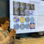 Theurer speaks at the 2019 annual American Geophysical Union (AGU) Fall Meeting in San Francisco. He delivered a presentation at NOAA's booth on the satellite technology NOAA uses and the products they can create from these satellites.