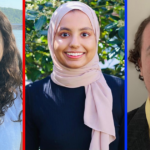 Three 2021 interns in a row, Alexandria Rivera, Mariam Shah and Patrick Wilson