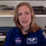NASA astronaut Zena Cardman delivers the NC Space Symposium keynote via Zoom