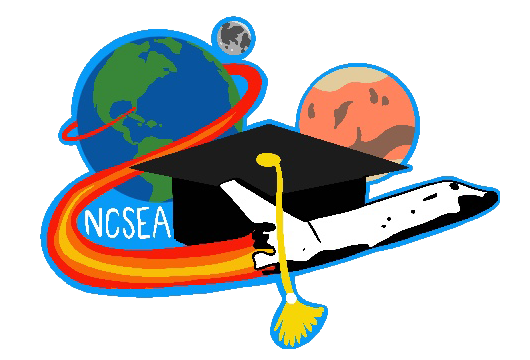 East Chapel Hill High School student Keira Linnane designed the patch selected to represent the NC Space Education Ambassadors program going forward. The patch features the Earth, Moon and Mars behind a graduation cap and NASA space shuttle with the acronym NCSEA to the left.